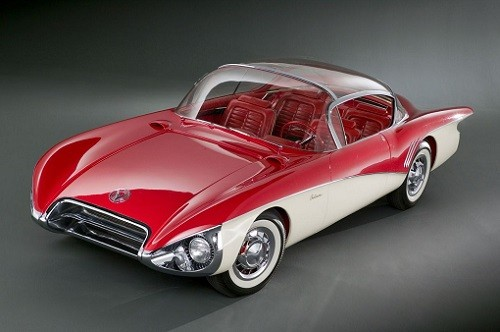 Red and White 1956 Buick Centurion