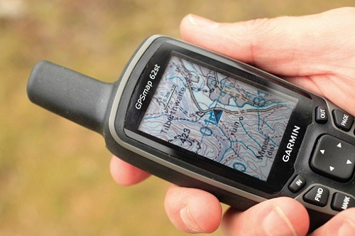 Handheld GPS System in Use
