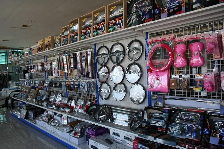 Car Accessories in Shop