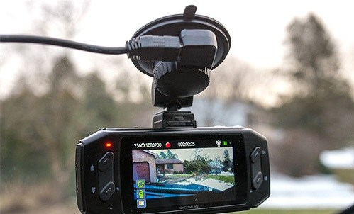 Dashcam on Windshield and its Display