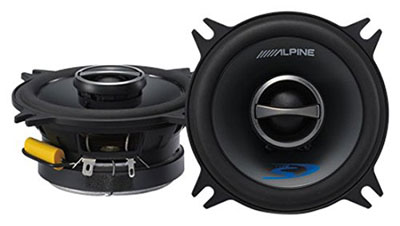 "Alpine SPS-410 (Type S 4"" 2-way car speakers)"