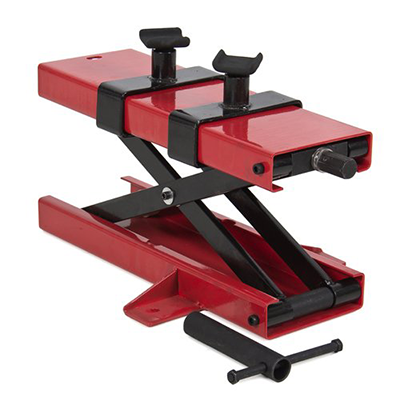 Best Choice Products 1100 lb Motorcycle Dirt Bike ATV Scissor Center Floor Jack Mini Lift Stand Plate Repair Auto