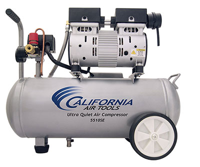 California Air Tools 5510SE Ultra Quiet and Oil-Free 1.0-HP 5.5-Gallon Steel Tank Air Compresso