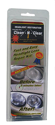 Clean-N-Clear 5 Minute Headlight Restoration Kit for multiple cars