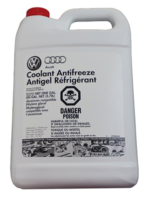 Genuine Audi Fluid G013A8J1G Radiator Anti-Freeze and Summer Coolant - 1 Gallon