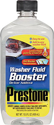 Prestone AS240 Windshield Washer Fluid Booster De Icer Additive