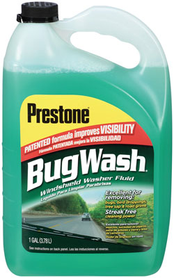 Prestone AS257 Bug Wash Windshield Washer Fluid-1-Gallon