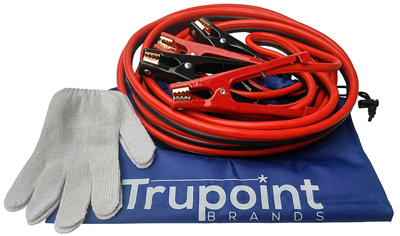Trupoint Jumper Cables - 4 Gauge Heavy Duty For the Deadest Car Battery - 20 ft