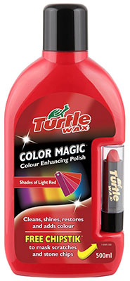 Turtle Wax FG6905 Light Red Color Magic Plus Colored Car Polish Cleans Shines Restores Scratches Includes Chipstick